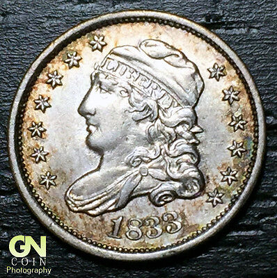 1833 Capped Bust Half Dime R1 V1 LM10  --  MAKE US AN OFFER!  #O5710