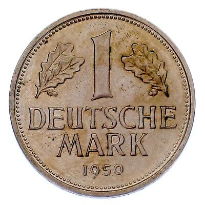 1950-J Germany Federal Republic Mark Coin (Unc Condition) KM# 110
