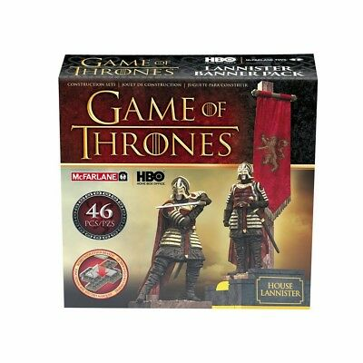 New McFarlane Toys - Game of Thrones - Lannister Banner Pack - 46Pc Set.