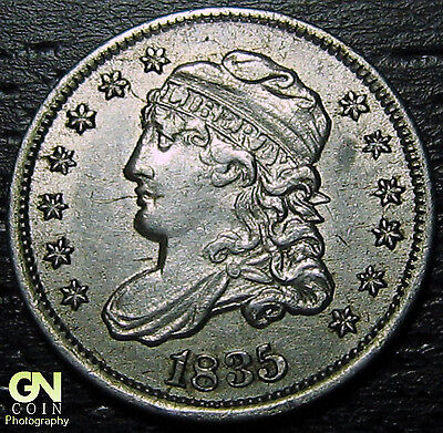 1835 LARGE DATE Capped Bust Half Dime R3 LM4  --  MAKE US AN OFFER!  #O5716