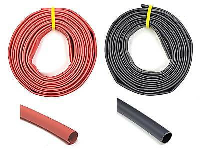 WindyNation Black and Red 2:1 Polyolefin Heat Shrink Tube Tubing UL Listed