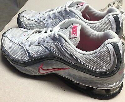65a52fdb5cc Nike Reax Run 5 Athletic Shoes White Pink Silver Gray 407987 Women s Size 8  Shox