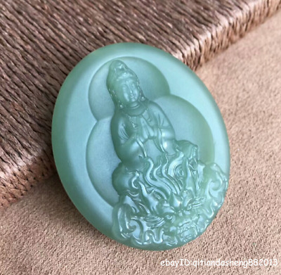 47mm collect China natural Hetian Jasper Jade Hand-carved Pendant jewelry QSBS
