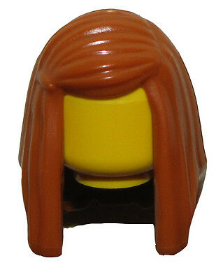 LEGO NEW MEDIUM DARK FLESH MINIFIGURE HAIR WOMENS FEMALE LONG WAVY GIRL WIG