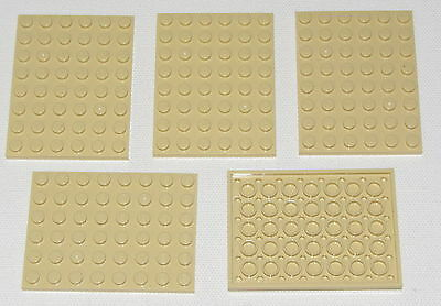 LEGO 50 TAN 1 X 6 DOT TAN PLATES BUILDING BLOCKS PIECES