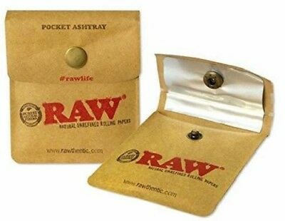 Raw Pocket Ashtray Cigarette Smoking Tobacco Smoke Portable Foil