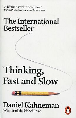 Thinking, Fast and Slow by Daniel Kahneman Paperback Book