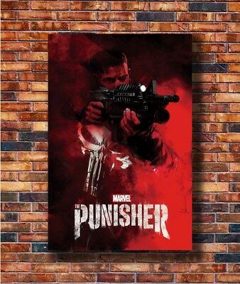 "The Punisher Skull Superhero Movie Poster 13x20/"" 20x30/"" 24x36/"" Art Print#1"