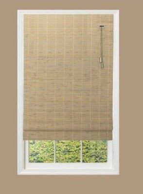 Roman Shade 27 X 62 Multi Colored Pull String Blind Window