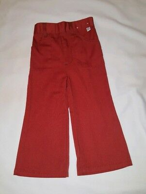 "Vintage Kids ""Billy The Kid"" Jeans Pants Burnt Orange Sz 3T Rare Excellent Cond."
