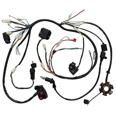 Full Electrics Wiring Harness Cdi Coil Solenoid Gy6 150cc Atv Quad