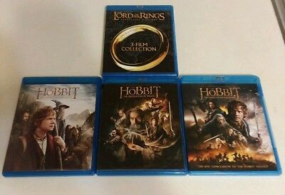 The Lord of the Rings Trilogy & The Hobbit: Trilogy (Blu-ray)