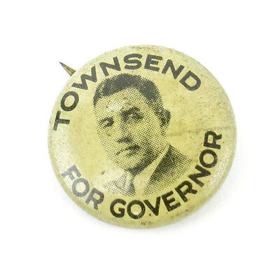 Vintage 1930's INDIANA Governor M. Clifford Townsend Political Pinback Button