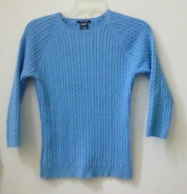 GAP  Sweater Size S Blue Knitted Long Sleeve Pullover Stretch Casual Women's