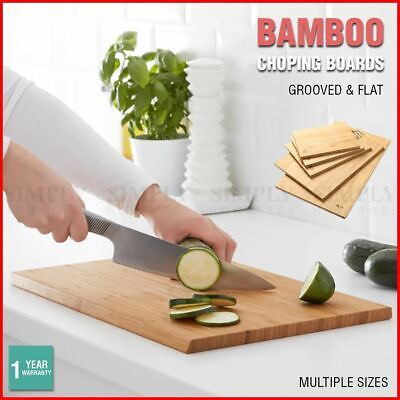 Bamboo Chopping Board Cutting Large Butchers Block Kitchen Chop Meat BPA Free