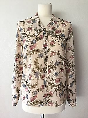 True Vintage Late 80's/Early 90's Next Retro Floral Print Blouse