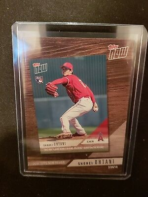 """Shohei Ohtani, Los Angeles Angels, 2019 Topps Series 1 """"Topps Now"""" SP"""