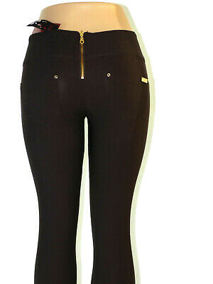 Damen Stretch Hose Stoffhose Röhre Skinny Leggings Leggins Treggings Jeggings 3