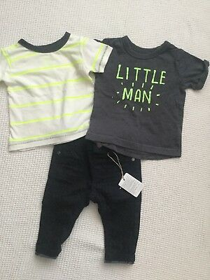 Next, Mothercare Baby Boys 3-6 Months Bundle Jeans, Tops Outfit Combined Postage