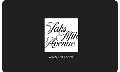 Saks Fifth Avenue Gift Card $500 Value!