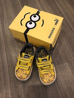469f4b52c20f (Holiday 6th-14th April) Puma Minions Kids Toddler Yellow Banana Shoes UK5
