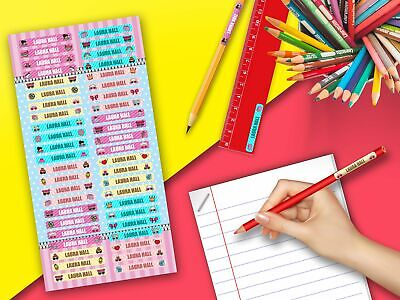 LOL Surprise Doll Pencil Kids Name Label Personalised Stickers Pen Stationary
