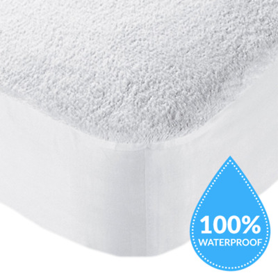 New Waterproof Matress Mattress Protector Fitted Bed Cover / Sheet - All Sizes!!