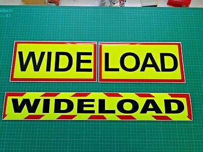 WIDE LOAD MAGNET MAGNETIC Lorry Truck Trailer Plant long Kit Pack x  3