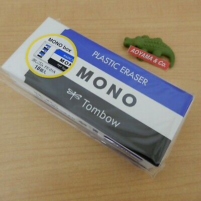 Tombow JHA-061 MONO BOX PE-01A Eraser, Pack of 18