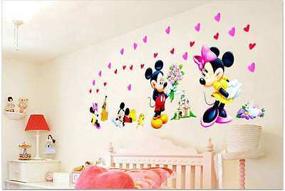 WANDSTICKER MICKEY MAUS Wandtattoo Disney XXL Kinderzimmer Minnie ...