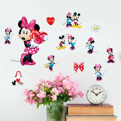 MICKEY MINNIE MAUS Wandtattoo Set Kinderzimmer Neu Wandsticker ...