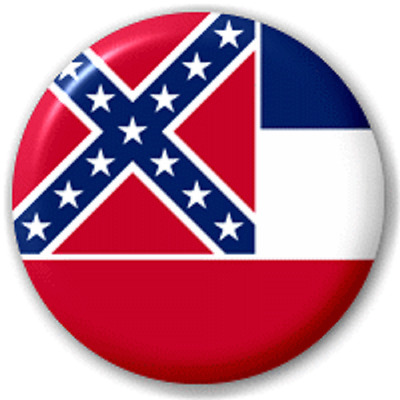 Mississippi Us State – 25 Mm Pin Button Badge
