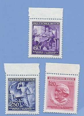 Nazi Germany Third Reich Nazi B&M Wagner Blacksmith Stamp set MNH WW2 Era