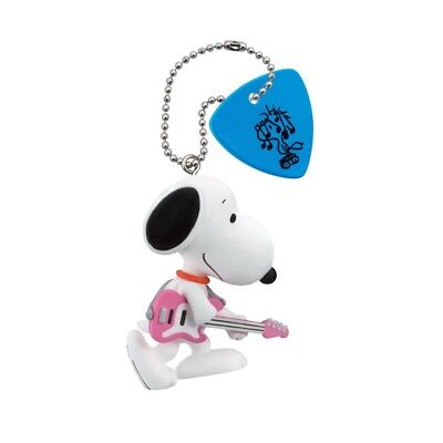 TAKARA TOMY SNOOPY Rock/'n Roll Party Ball Chain Strap Figurine The Drummer