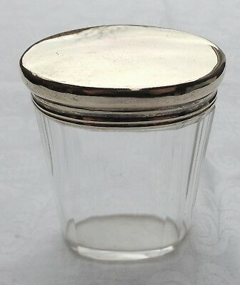 Asprey & Co Sterling Silver Gilt Topped Dressing Table Jar