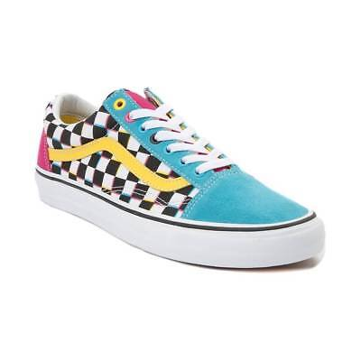 a83bf2d8a17247 NEW Vans Old Skool Crazy Chex Skate Shoe Multi Checker Womens Checkerboard