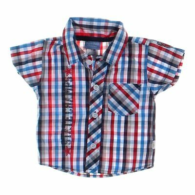 Duck Duck Goose Baby Boys  Shirt, size NB,  blue/navy, red, white,  cotton
