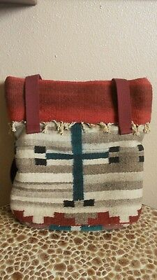 b6bce8a89a7 Southwest Style Wool Tote Purse Bag Native Western Style Handwoven Custom  Made