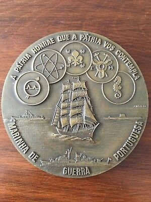 Beautiful and rare antique bronze medal of the Portuguese Navy