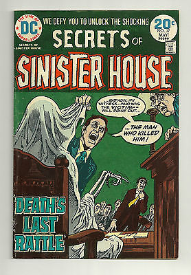 SECRETS OF SINISTER HOUSE #17 ~ DC Comics 1974 ~ F/VF ~  Death's Last Rattle!