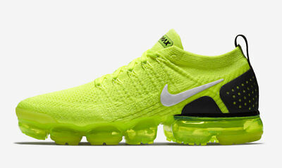 premium selection 68bc2 df999 NIKE AIR MAX VaporMax Flyknit 2 VOLT GREEN BLACK NEON 942842-700 sz 11 Men