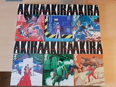 AKIRA Manga Full Set Volumes 1-6 - Very Good Condition