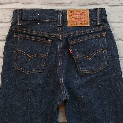 Deadstock Levis Boys 302-0117 Denim Jeans Size 12 26 x 30 Made in USA