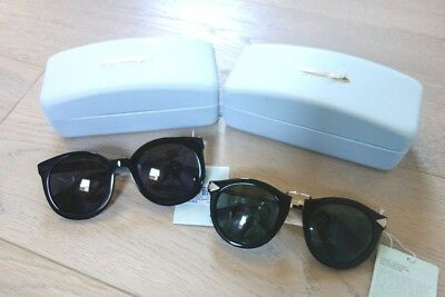 10bbbe241f03 NWT Karen Walker Classic Sunglasses Super Duper Black and Harvest Black w/  Gold
