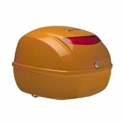 Vespa 32 litre top box in orange - brand new, unboxed, unused, perfect condition