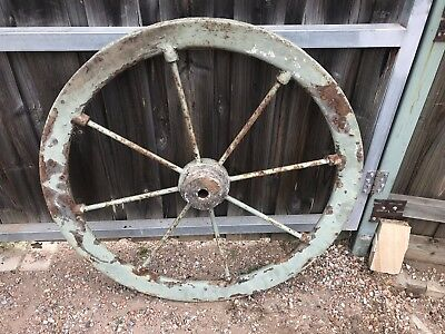 Antique Steel  Wagon Wheel ~ Vintage Garden Art Ornament