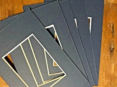 5 Dark Blue  Picture Frame Mounts 6X4 Overall For 3.5 Inch X 2.5 Inch Photo