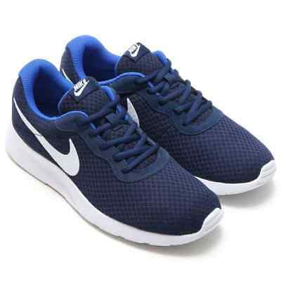 new style 24baf 1161e Mens Nike Tanjun Running Trainer Shoes Midnight Navy White-Game Royal  812654 414