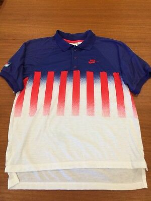 Vintage Nike Challenge Court Andre Agassi Polo Shirt- Rare-Size Small Mens