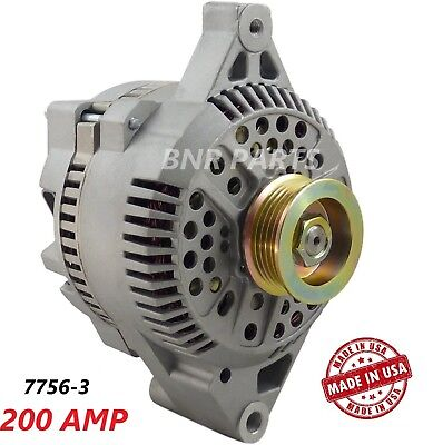 200 AMP 7756-3 Alternator Ford E F SERIES High Output Performance NEW HD USA